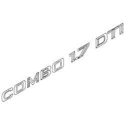 Napis ''COMBO 1.7 DTI'' na tył CORSA C COMBO