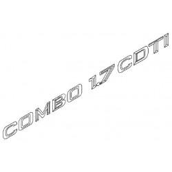 Napis ''COMBO 1.7 CDTI'' na tył CORSA C COMBO