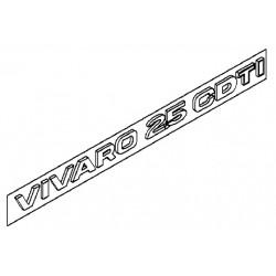 Napis ''VIVARO 2.5 CDTI'' na tył VIVARO
