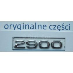 Napis ''2900 '' na drzwi boczne Vivaro.