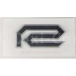 Emblemat graficzny ''R'' - znaczek ozdobny drzwi przednich 13318976 (Agila A, Astra G,H, Corsa C, Signum, Vectra C)