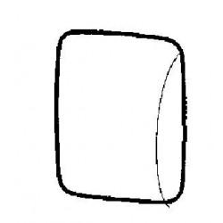 Osłona lusterka lewa do lakieru Combo C