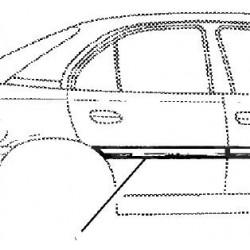 Listwa ochronna drzwi tylne prawe OMEGA B do 1999 (czerń)