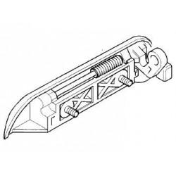 Klamka zewnętrzna drzwi przód i tył lewe AGILA A (chromowana)