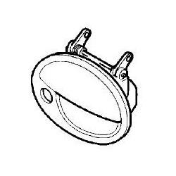 Klamka zewnętrzna drzwi bagażnika CORSA C / COMBO (czarna)