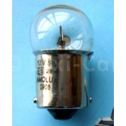 Żarówka cokołowa, okrągła o mocy 5W, jednowłóknowa.