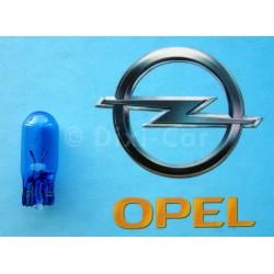 Żarówka bezcokołowa o mocy 5W, niebieska.