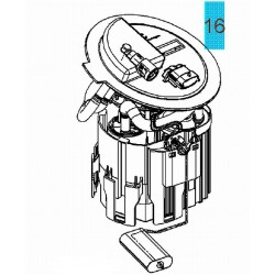 Pompa paliwa, Astra II, Corsa C, Tigra B : 1.0, 1.2, 1.4,