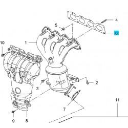 vUszczelka kolektora wydechowego (1.6,1.8) ASTRA H,J/INSIGNIA/ZAFIRA B/VECTRA C/MOKKA