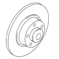 Tarcza hamulcowa tylnego koła GM 93161254 (Opel Vivaro)