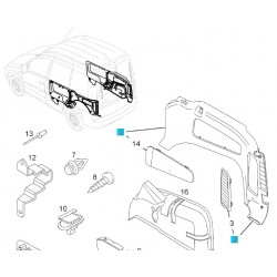 Tapicerka prawego boku bagażnika GM 13142622 (Opel Combo C)