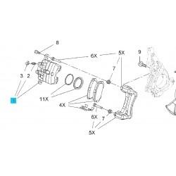 Obudowa przedniego zacisku hamulcowego z tłokiem strona lewa GM 13279638 (Opel Insignia )