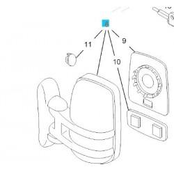 Lusterko wsteczne, zewnętrzne prawe GM 93161130 (Opel Vivaro)