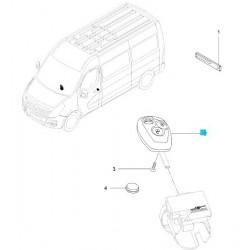 Nadajnik kluczyka (transponder + immobiliser z centralną blokadą drzwi) 3 przyciski GM 93165608 (Opel Movano B )