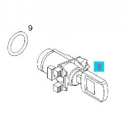 Wkład zamka z kluczem do drzwi przednich GM 93186686 (Opel Signum, Vectra C)