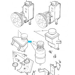 Zbiornik płynu układu wspomagania GM 90473140 (Opel Astra F, Classic, Corsa B, Tigra A, Vectra B)