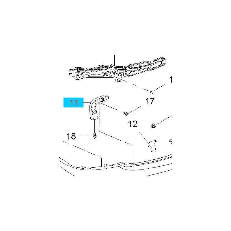 Wspornik, ślizg zderzaka tylnego, dolny prawy GM 23194890 (Opel Insignia Hatchback, Limuzyna)