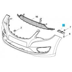 Ślizg, mocowanie przedniego zderzaka strona lewa GM95260075 (Opel Karl)