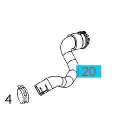 Przewód, wąż nagrzewnicy powrotny GM13128922 (Opel Astra H)