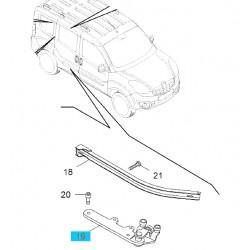 Mocowanie, rolka drzwi przesuwnych strona prawa GM95516312 (Opel Combo D)
