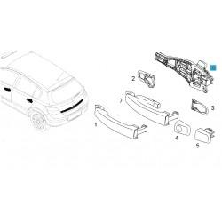 Wspornik klamki zewnętrznej drzwi przednich, lewy GM24463523 (Opel Astra H, Corsa D, Tigra B, Zafira B)
