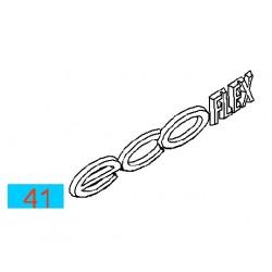 Napis ''ECOFLEX'' na tył GM13362752 (Opel Astra H,J, Corsa D, Insignia, Meriva B, Mokka, Zafira B,C)