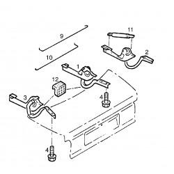 Sprężyna rozpierająca zawiasa pokrywy bagażnika, prawa GM90224132 (Opel Omega A, Senator B)