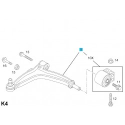 Wahacz przedni, lewy GM24413015 (Opel Vectra C, Signum)