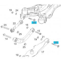 Śruba M12x85 wahacza tylnego GM24422972 (Opel Signum, Vectra C)