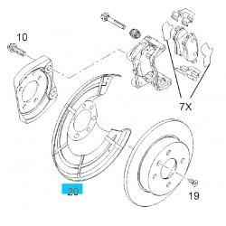 Osłona tarczy hamulcowej tył GM90498290 (Opel Astra G,H, Corsa C, Meriva A,B, Zafira A,B)