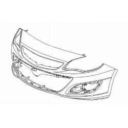 Zderzak przedni Astra J IV (od 2013)(dla czujników parkowania)