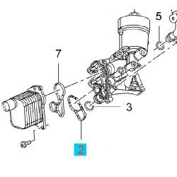Uszczelka obudowy chłodnicy oleju GM55568539 (Opel Adam, Astra J, Cascada, Corsa D,E, Insignia, Meriva b, Mokka, Zafira C)