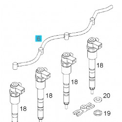 Przewód nadmiaru, ściekowy paliwa GM55251773 (Opel Agila B, Astra H,J, Corsa C,D,E, Meriva A,B)