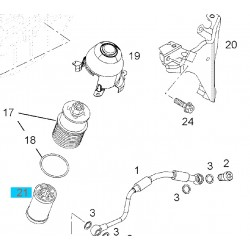 Wkład filtra oleju 95516104 (Agila A,B, Astra H, Combo D, Corsa C,D, Meriva A, Tigra B)