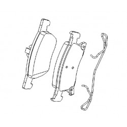 Klocki hamulcowe przód ASTRA K, V (276 mm)