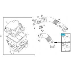 Kanał wylotowy obudowy filtra powietrza 13248878 (Opel Corsa D)