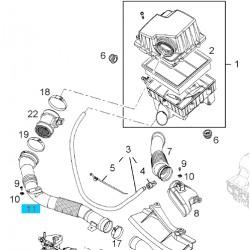 Rura, kanał wylotowy obudowy filtra powietrza 13333734 (Corsa D)