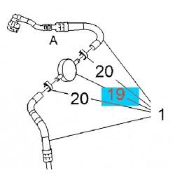 Amortyzator przewodu paliwowego 13372635 (Astra J)