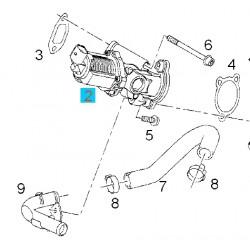 Zawór EGR recyrkulacji spalin Z13DTH 93196799 (Astra H, Corsa D)