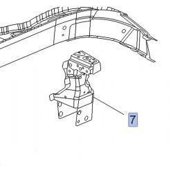 Wspornik górnej belki, prawy 13288978 (Astra J, Cascada)