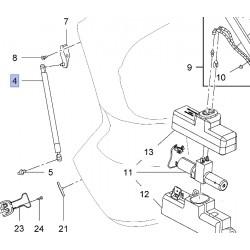 Amortyzator klapy bagażnika, lewy 39011536 (Insignia Kombi)