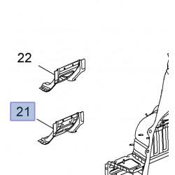 Wspornik podłogi tylnej, prawy 95995726 (Mokka)