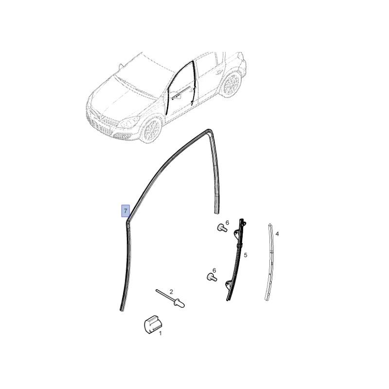 Uszczelka Szyby Drzwi Przednich 13290343 Astra H Sklep Porady Opel 24h Do 60 Taniej