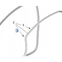 Spinka uszczelki drzwi przednich / tylnych 13350982 (Astra J, Cascada, Meriva B)