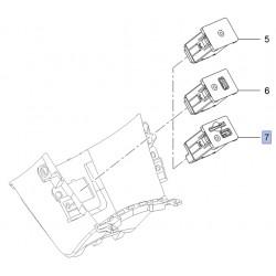 Przyłącze pomocnicze (socket) radioodbiornika, gniazda SD/USB 25908967 (Mokka)