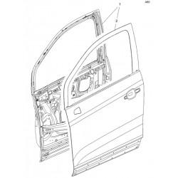 Drzwi przednie prawe 95371049 (Mokka od 2013)