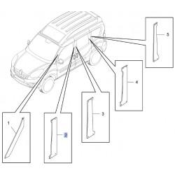 Listwa ozdobna ramy szyby, prawy 95511980 (Combo D)