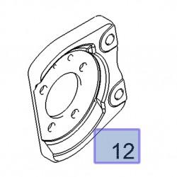 Mocowanie zacisku tylnego hamulca, lewe 13173018 (Astra G,H, Corsa C, Meriva A,B, Zafira B)