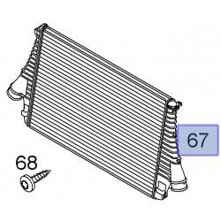 Intercooler, chłodnica pośrednia turbosprężarki 13205149 (Signum, Vectra C)