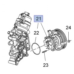Pompa wody 1.3L 12855462 (Agila B, Astra H,J, Corsa D,E, Combo D, Meriva B)